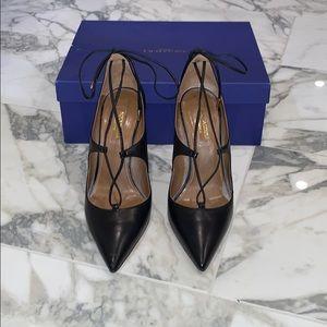 Aquazzura Christy Black Heels